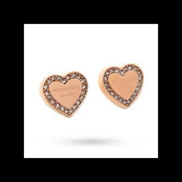 Michael Kors rose gold heart earrings NWT NWT